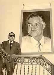 Author photo. Portrait of Gamal Abdel Nasser, Cairo, Egypt, 1965.   Photo by Janice Waltzer / Flickr.