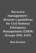 Recovery management : director's guidelines…