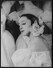 Author photo. Alexandra Danilova, as Fanny Cerrito in Pas de Quatre, photo by Carl Van Vechten, Sept. 23, 1948 (Library of Congress, Prints & Photographs Division, Carl Van Vechten Collection, reproduction number, LC-USZ62-121326)