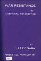 War resistance in historical perspective by…