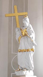 Author photo. St. Helena and the True Cross, Horb am Neckar, Germany, c. 1700.  Photo by Andreas Praefcke / Wikimedia Commons