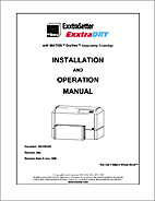 ExxtraSetter ExxtraDRY Installation and…