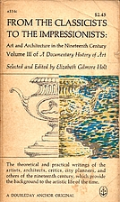 A Documentary History of Art, Volume 3 by…