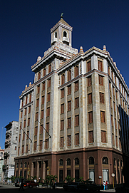 Author photo. Edificio Barcadi (Bacardi Building) in Havana, Cuba; photo by Chris Brown