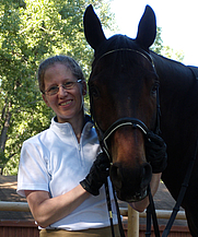 Author photo. Melanie Nilles and her horse, H.H. Beauregarde. Photo by Kiri Stone.