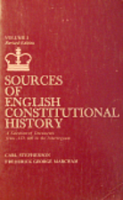 Sources of English Constitutional History: A…