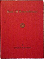 Book of Remembrance by Carlton B. Scofield