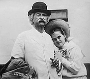 Author photo. Mark Twain and Dorothy Quick ~ George Grantham Bain Collection (Library of Congress) ~ Cropped