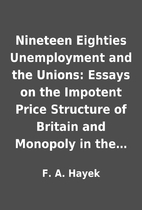 Nineteen Eighties Unemployment and the…