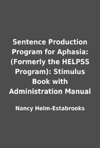 Sentence Production Program for Aphasia:…