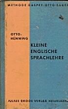Klein Englische Sprachlhre by Otto Henning
