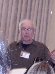 Author photo. Thomas F. Monteleone at HorrorFind September 4, 2010 photo by Nathan Filizzi (yoyogod)