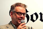 Author photo. Hans Rosenfeldt at the Swedish Book fair 2001 in Gothenburg (by Fluff)