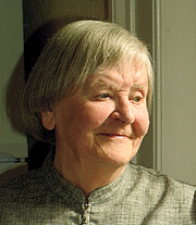 """Author photo. Ursula Hall, author of """"The Cross of St. Andrew"""" Photo by Sam Taylor"""