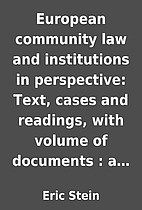 European community law and institutions in…