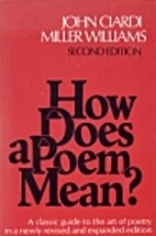 How does a poem mean? (2nd edition) by John…