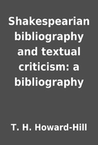 Shakespearian bibliography and textual…