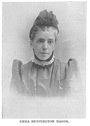 Author photo. Emma Huntington Nason (b.1845), Buffalo Electrotype and Engraving Co., Buffalo, N.Y.