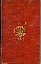CALEDONIAN RULE BOOK 1906 with updates to…