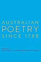 Australian Poetry Since 1788 by Geoffrey…