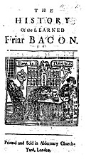 The history of the learned Friar Bacon