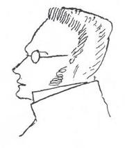 Author photo. Max Stirner (1806-1856) portraited by Friedrich Engels (1820–1895), made circa 1892.