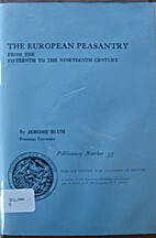 The European peasantry from the fifteenth to…