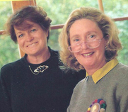 Author photo. Susan Dickens (pictured right) and Jane Devine (pictured left)