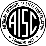 Author photo. American Institute of Steel Construction logo