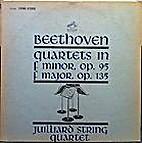 Quartets in F Minor, Op. 95 [and] F Major,…