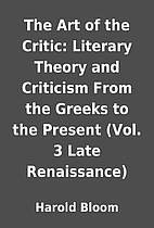 The Art of the Critic: Literary Theory and…