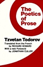 The Poetics of Prose by Tsvetan Todorov