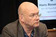 Author photo. Swedish film producer, film director and writer Michael Hjort at Helsinki Book Fair 2012 (by Anneli Salo)