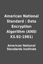 American National Standard : Data Encryption…