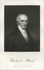 Author photo. Richard Rush (1780-1859)<br>Courtesy of the <a href=&quot;http://digitalgallery.nypl.org/nypldigital/id?423493&quot;>NYPL Digital Gallery</a><br>(image use requires permission from the New York Public Library)