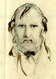 Author photo. George Cruikshank self portrait 1858