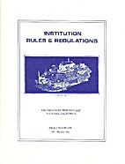 Alcatraz: Institution Rules & Regulations by…