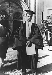 Author photo. Darwin Turner at his University of Cincinnati Graduation, 1947<br>Archives &amp; Rare Books, Library, University of Cincinnati