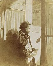Author photo. Self-Portrait at a Window, February 20, 1851