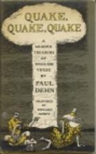 Quake, quake, quake; a leaden treasury of…