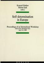 Self-determination in Europe: Proceedings of…