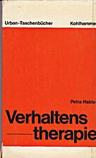 Verhaltenstherapie by Petra Halder-Sinn