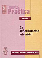 Sintaxis. La Subordinación Adverbial.…