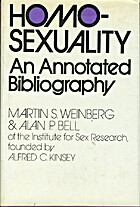 Homosexuality; an annotated bibliography by…