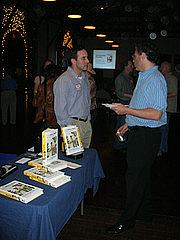Author photo. Michael Shuman (on left).  Chris Johnson , October 19, 2006