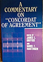 A commentary on Concordat of agreement by…