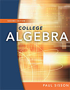 College Algebra by Paul Sisson