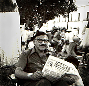 Author photo. Luis Covarrubias (1919-1987) in Oaxaca, Mexico, 1978; photograph made and kindly provided by his son Miguel Covarrubias Reyna
