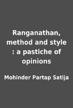 Ranganathan, method and style : a pastiche…