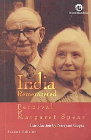 Author photo. Percival Spear and Margaret Spear. From the cover of <i>India Remembered</i>.